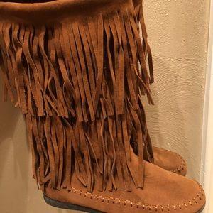 Fringe boots size 8